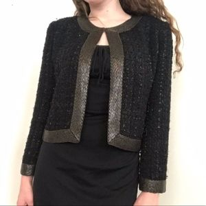 Parker Beaded Bouclé Tweed Dress Jacket